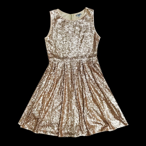 ISSI Dresses & Skirts - All-Sequin Gold Dress